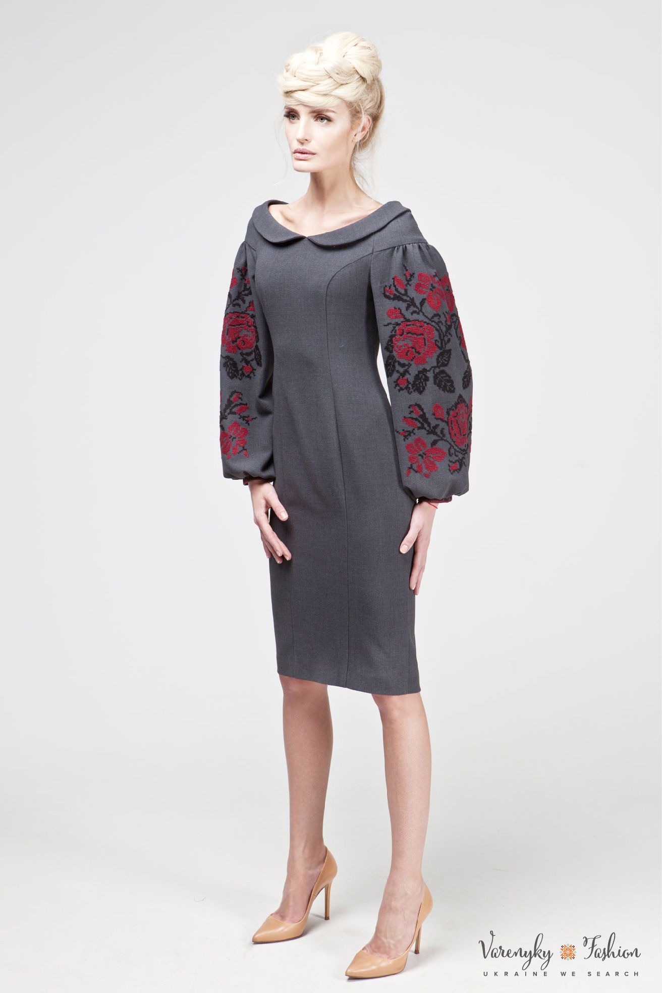Платье «Берегиня» серое - Varenyky FashionVarenyky Fashion