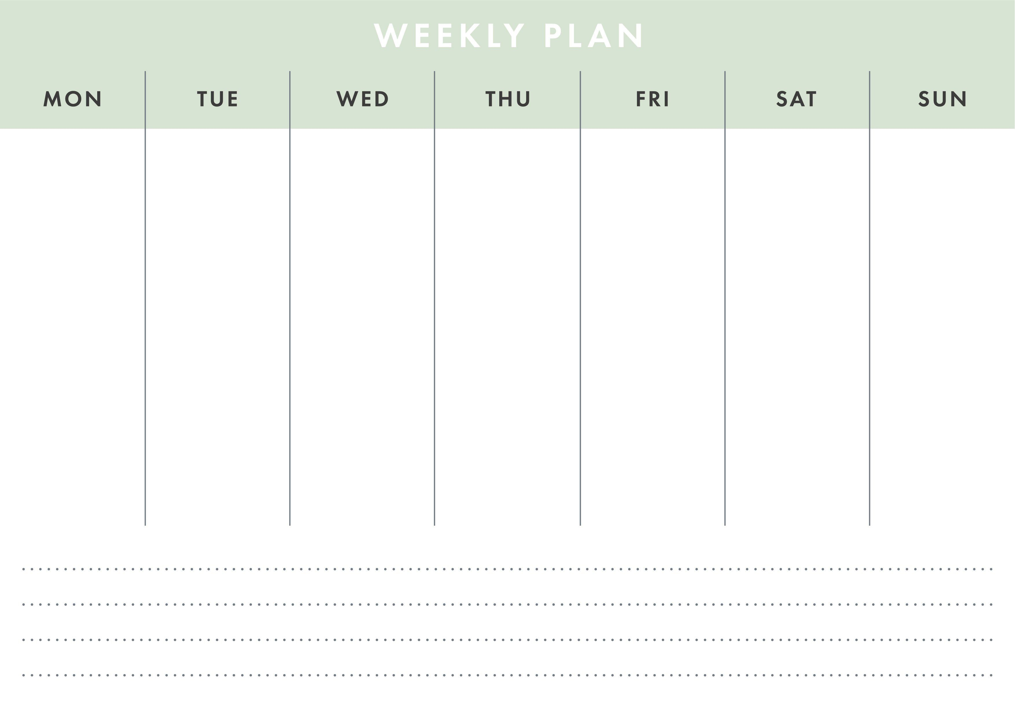 Printable A4 Basic Weekly Planner , Affiliate, Resizable