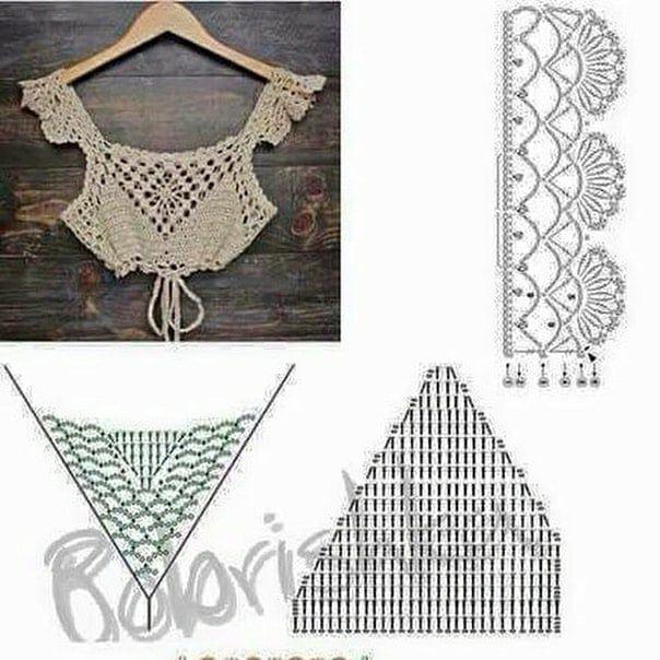 Top crochet patrones | tejidos | Pinterest | Croché, Ganchillo y ...