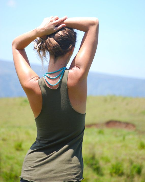 82a04630a17ac Yoga Layering Racerback Tank Top for Women - Olive - Eco Friendly Jersey - Organic  Clothing