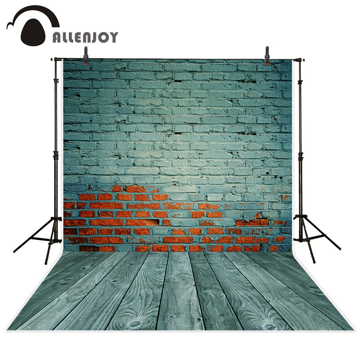 Allenjoy brick wall shiny golden bulbs background vintage fashion backdrop photocall for a photo shoot photo booth brick backdrop backdrops brick