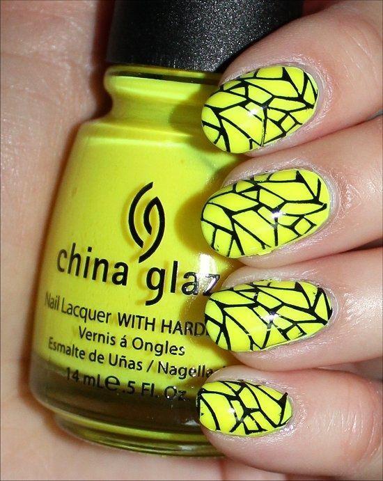 unhas decoradas amarelas fluorescente | mis diseños favoritos ...