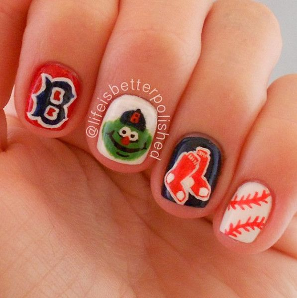Happy Opening Day Here Are 10 Cute Baseball Nail Art Ideas