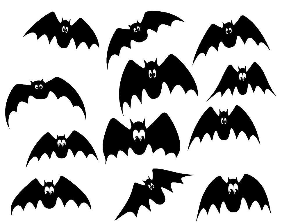Halloween Clipart Black Bats Clipart Cute Bats Clipart Digital Bats Commercial Use Instant Download Halloween Clipart Clip Art Cute Bat