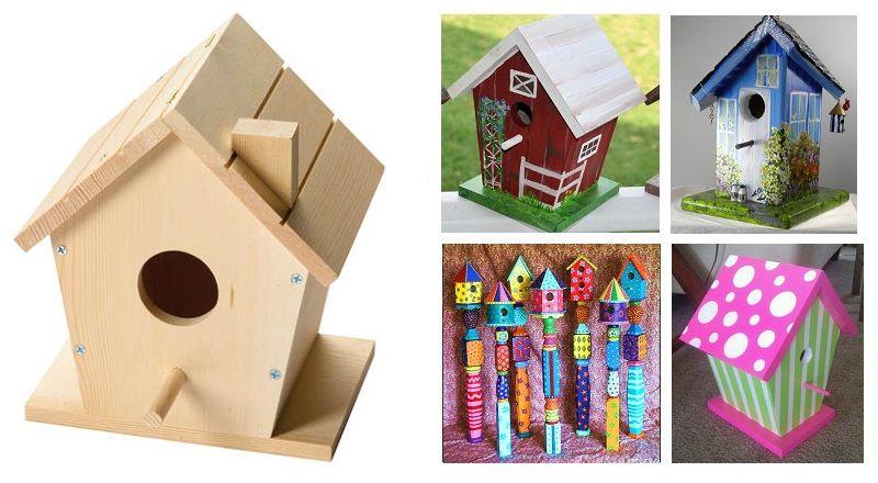 15 modèles à voir! Peindre des cabanes d'oiseaux! | Mangeoires pour oiseaux faites maison ...