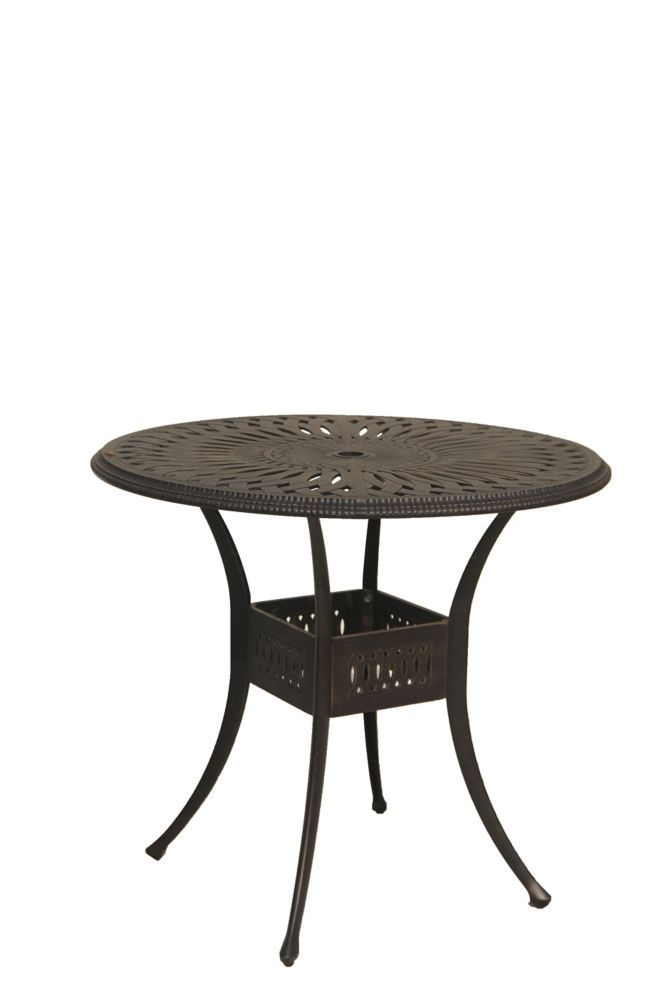 42 Inch Round Bar Height Patio Table