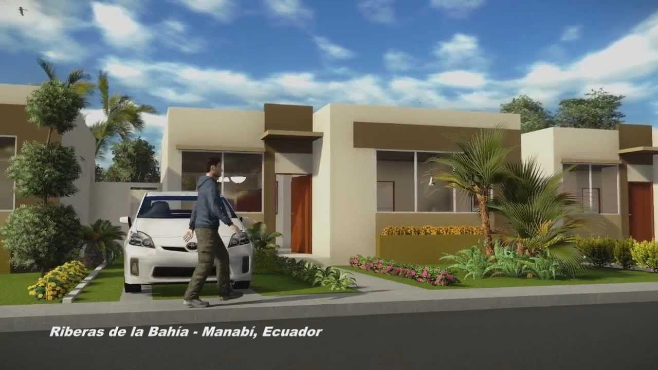 Riberas De La Bah A Casa De Una Planta Animaci N 3d