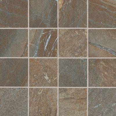 "Daltile Ayers Rock 3"" x 3"" Porcelain Mosaic Tile in Rustic Remnant"