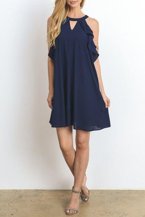 Elegance Dress (Navy)