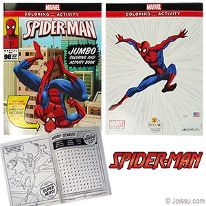 Spiderman Jumbo Coloring And Activity Books With 96 Pages Of Coloring Sheets And Activities These A Wholesale Party Supplies Book Activities Color Activities