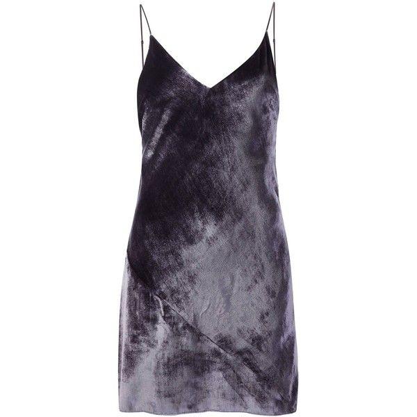 f18efec54dceb Fleur Du Mal velvet mini slip ($398) ❤ liked on Polyvore featuring  intimates, shapewear, dresses and grey