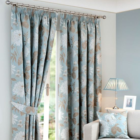 Heritage Duck Egg Gabriella Curtain Collection Dunelm Mill