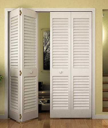 Closet Door, Bi Fold, Kimberly Bay® Plantation Louver Louver White