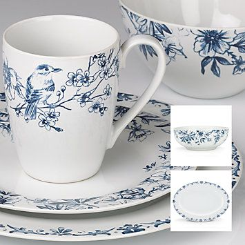 Enjoy unique dinnerware and flatware patterns by Kathy Ireland and other America\u0027s top designers. Browse Kathy Ireland products created exclusively for ...  sc 1 st  Pinterest & kathy ireland Home® Nature\u0027s Song Four Place Settings Bonus ...