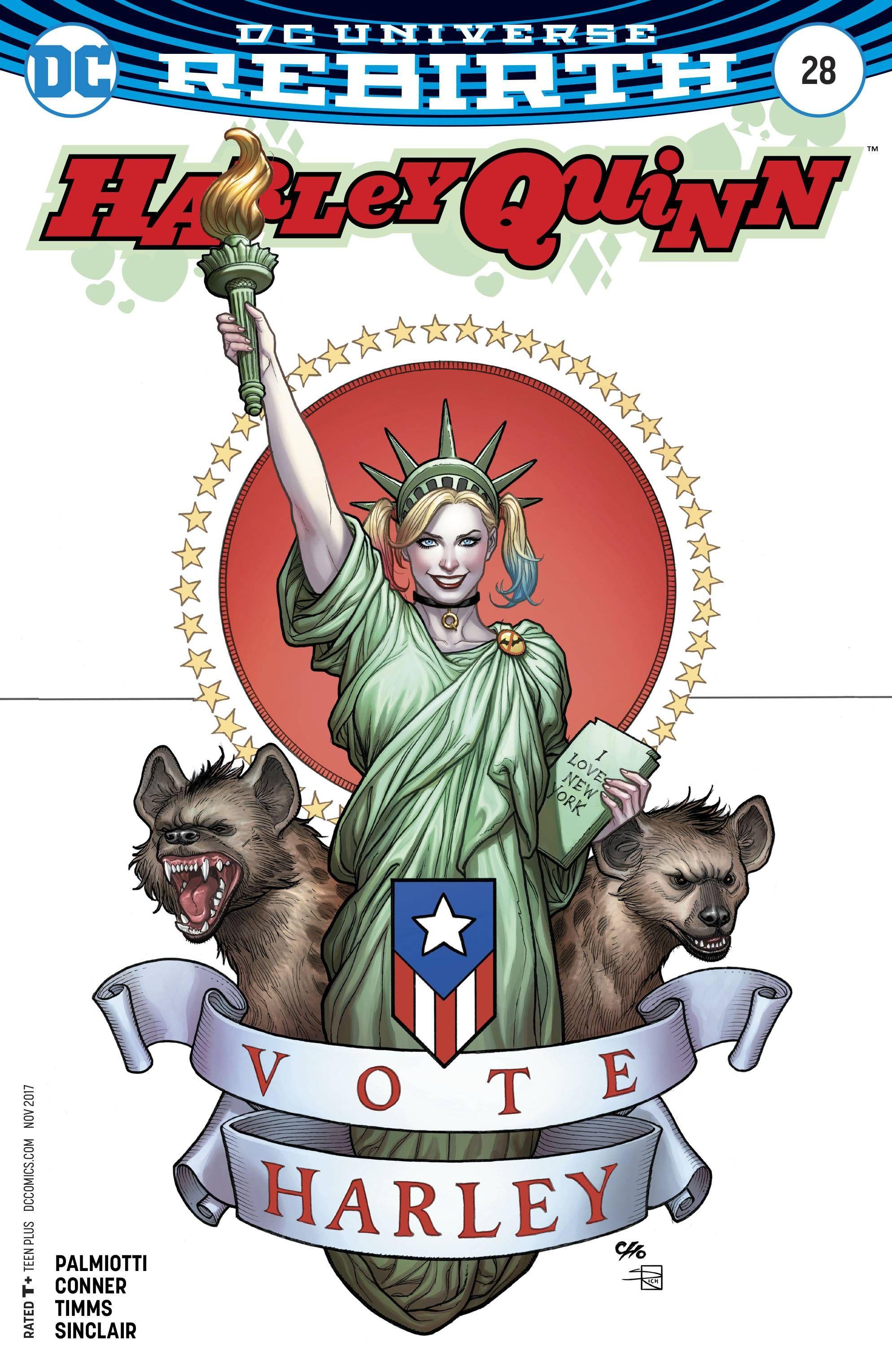 FRANK CHO VARIANT COVER HARLEY QUINN #28 DC COMICS//2017 REBIRTH