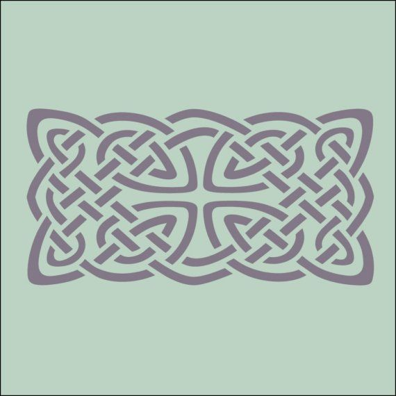 Celtic knot 4 stencil 75 x 4 in 10 mil mylar the artful stencil craft solutioingenieria Images