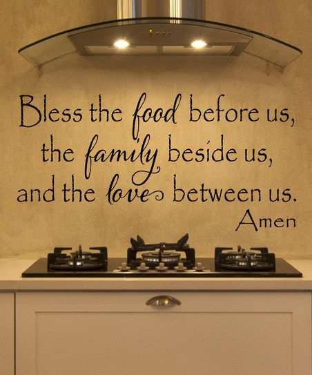 Black Bless The Food Decal