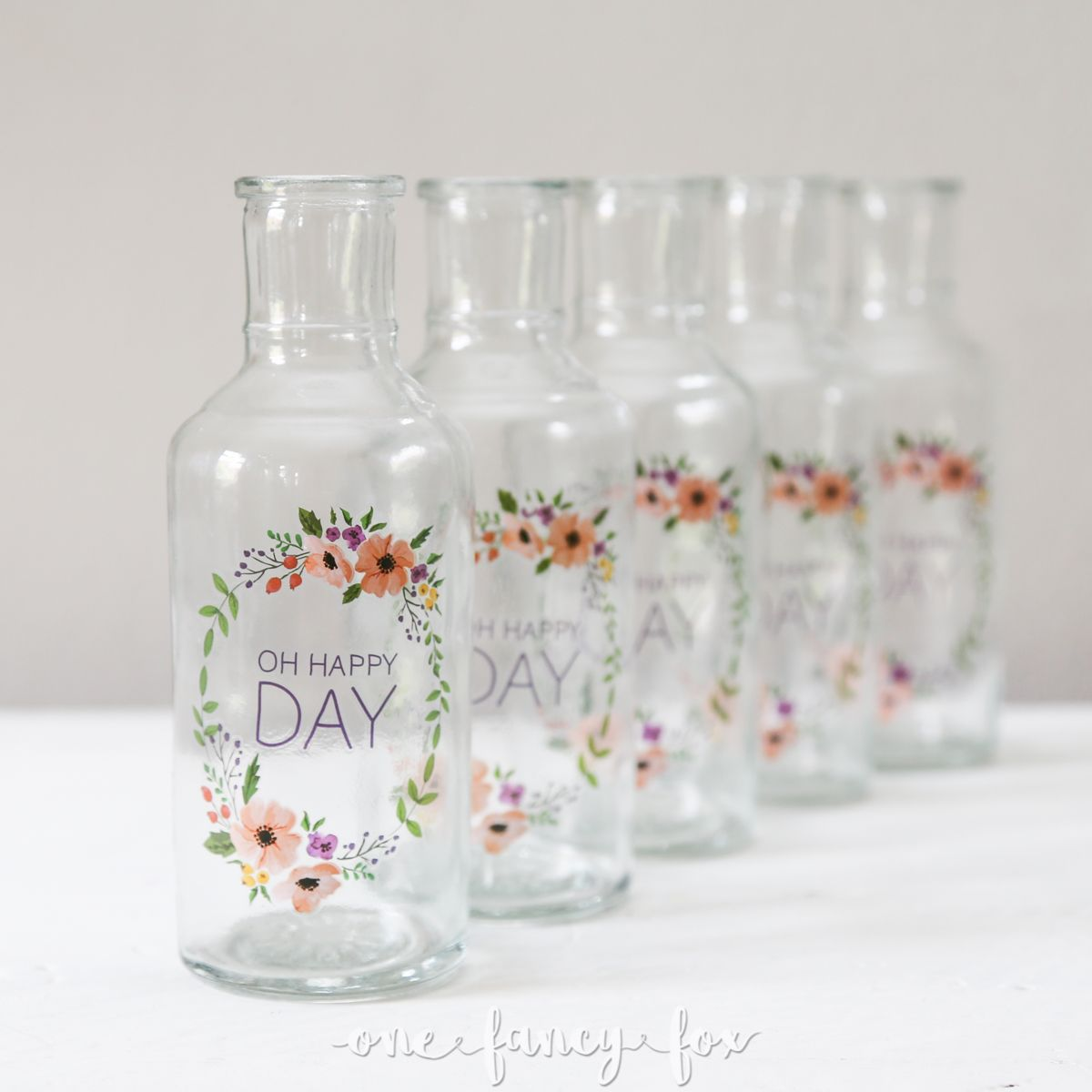 Vasen Hochzeit Vasen 6er Set Oh Happy Day Vintage And Dekoverleih Quotone