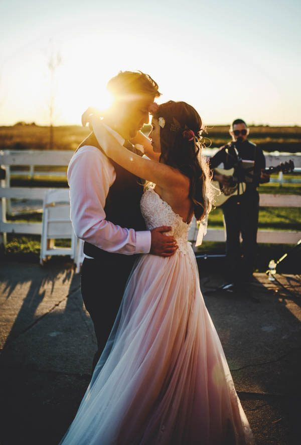 While A Herd Of Horses Tried To Steal The Spotlight From Paige And Blake On Their Big Day Rustic Rose Barn Wedding Was Beautiful Floor Ceiling
