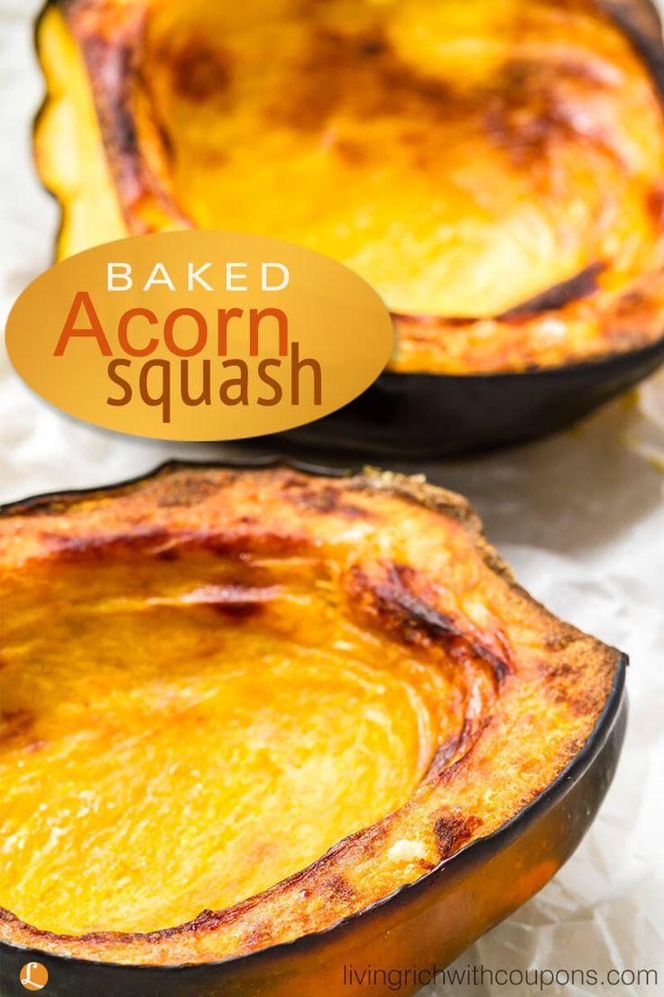 Baked Acorn Squash Recipe Acorn Squash Recipes Baked Squash