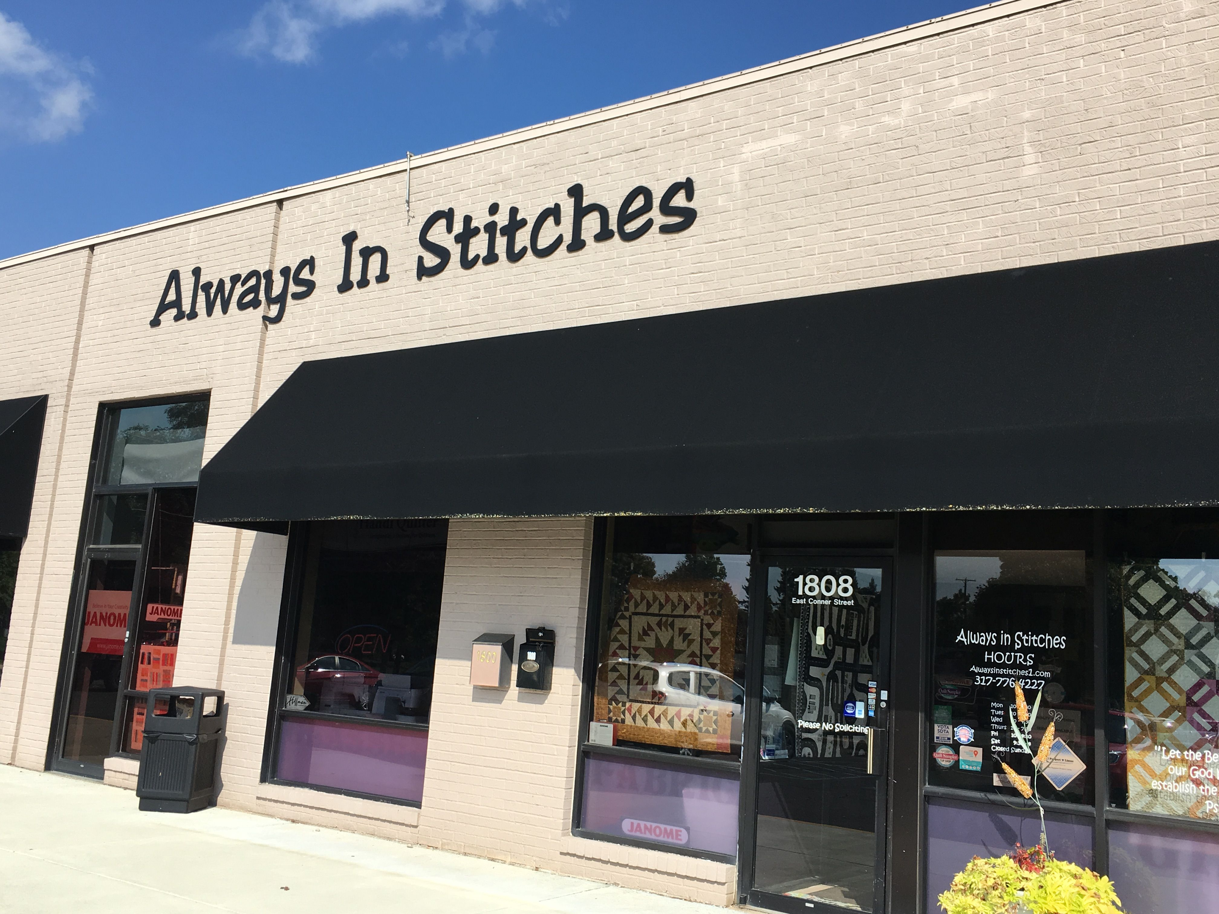 Always In Stitches Noblesville In Visited 10 2 2018 An Eclectic Store Needs Someone To Reorganize It Nice Staff Thou Outdoor Decor Quilt Shop Noblesville
