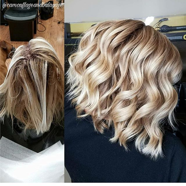 Champagne Blonde Roots Paul Mitchell The Color 8pn 20 Vol Lolite Pm Shines 6bv 9bv Balayage Oligo Clay And Hair Styles Medium Hair Styles Blonde Roots