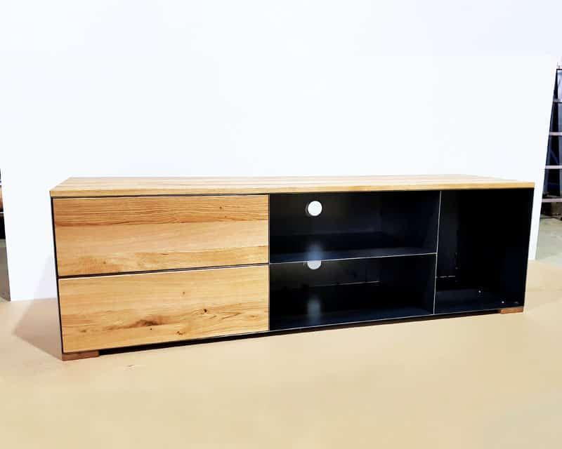 Tv Sideboard Lowboard P3 Schwarz Grau Eiche Metall Stahlzart Tv Sideboard Sideboard Metall Sideboard
