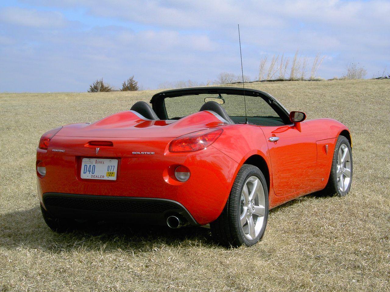 2006 Pontiac Solstice convertible rear Pontiac