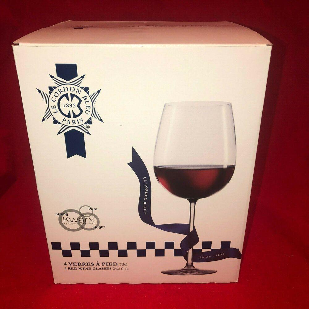 Le Cordon Bleu 4 Red Wine Glasses 24 6 Fl Oz Lecordonbleu Red Wine Glasses Wine Glasses Red Wine