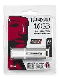 Pen Drive Kingston Ultimate 3.0 - 16 Gb - 100mb/s-70mb/s - U$S 88,90