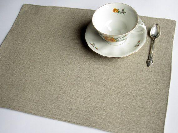 Natural linen placemat, linen placemat, table placemat, table mat, dinning placemats, tablecloth decor, table serving, placemats set