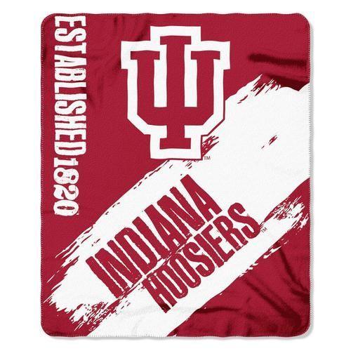 Indiana University Hoosiers Bold Logo Large Fleece Blanket