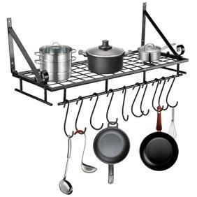 hanging pan rack ymiko metal hanging