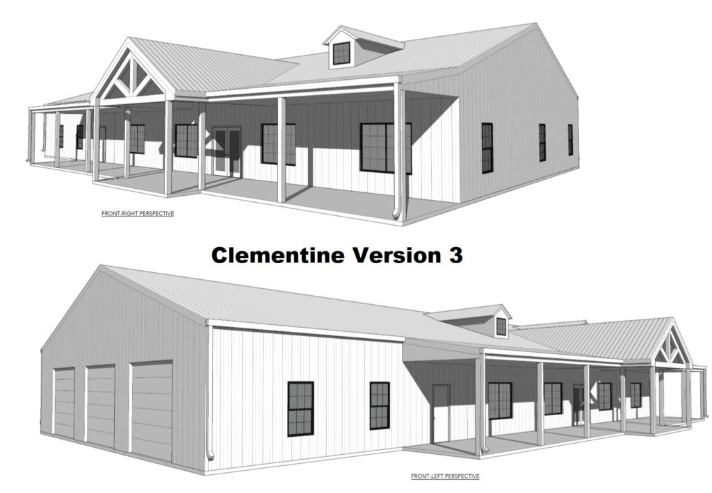 Clementine 50x100 Barndominium Floor Plan BarndominiumFloorPlans