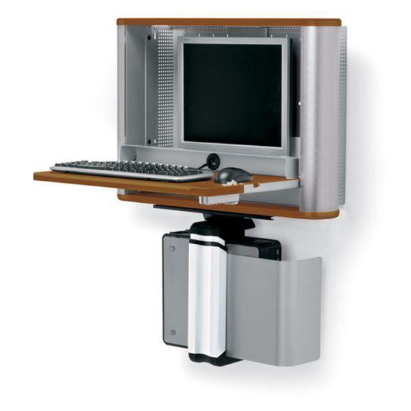 monitor pc wall desk standard computer work stations wall desk rh pinterest com