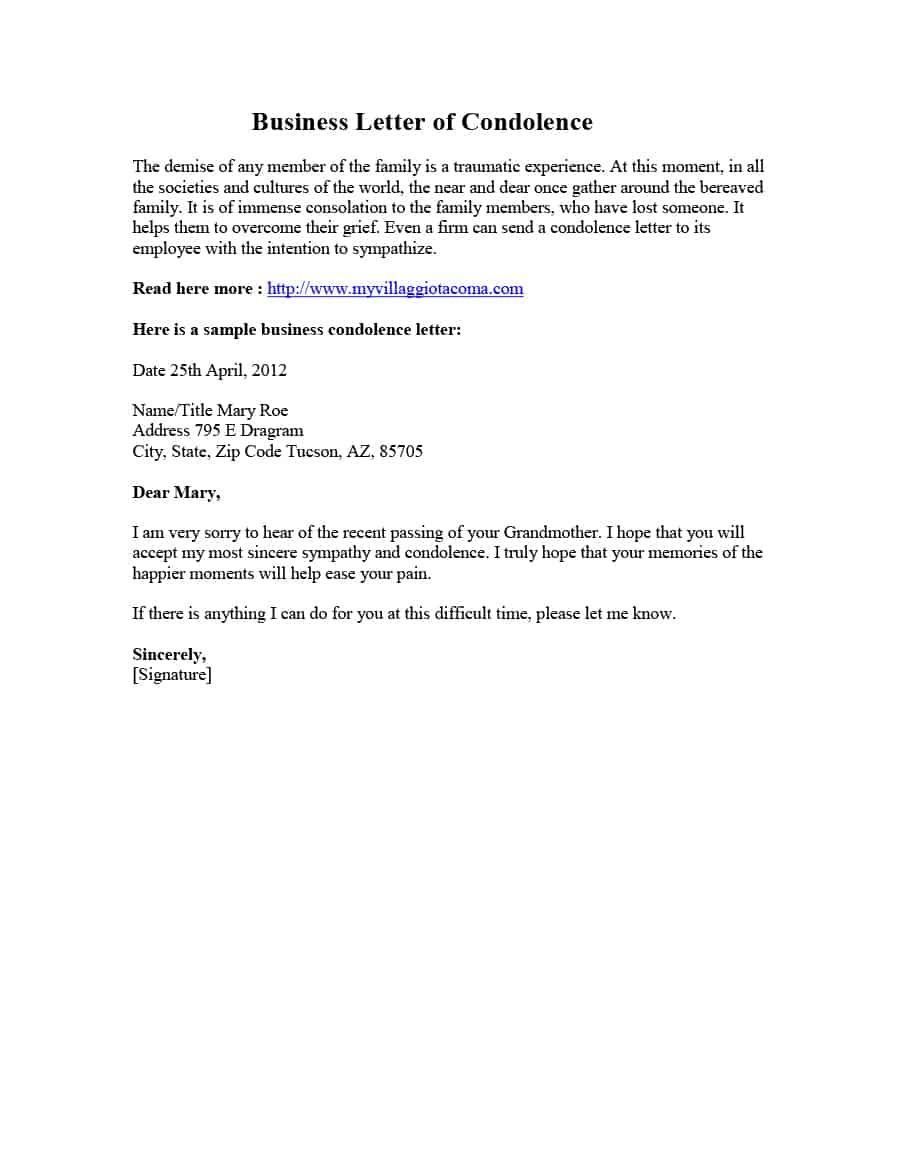 Pin By Juli Julian On Wordpdf Samples Sympathy Letter