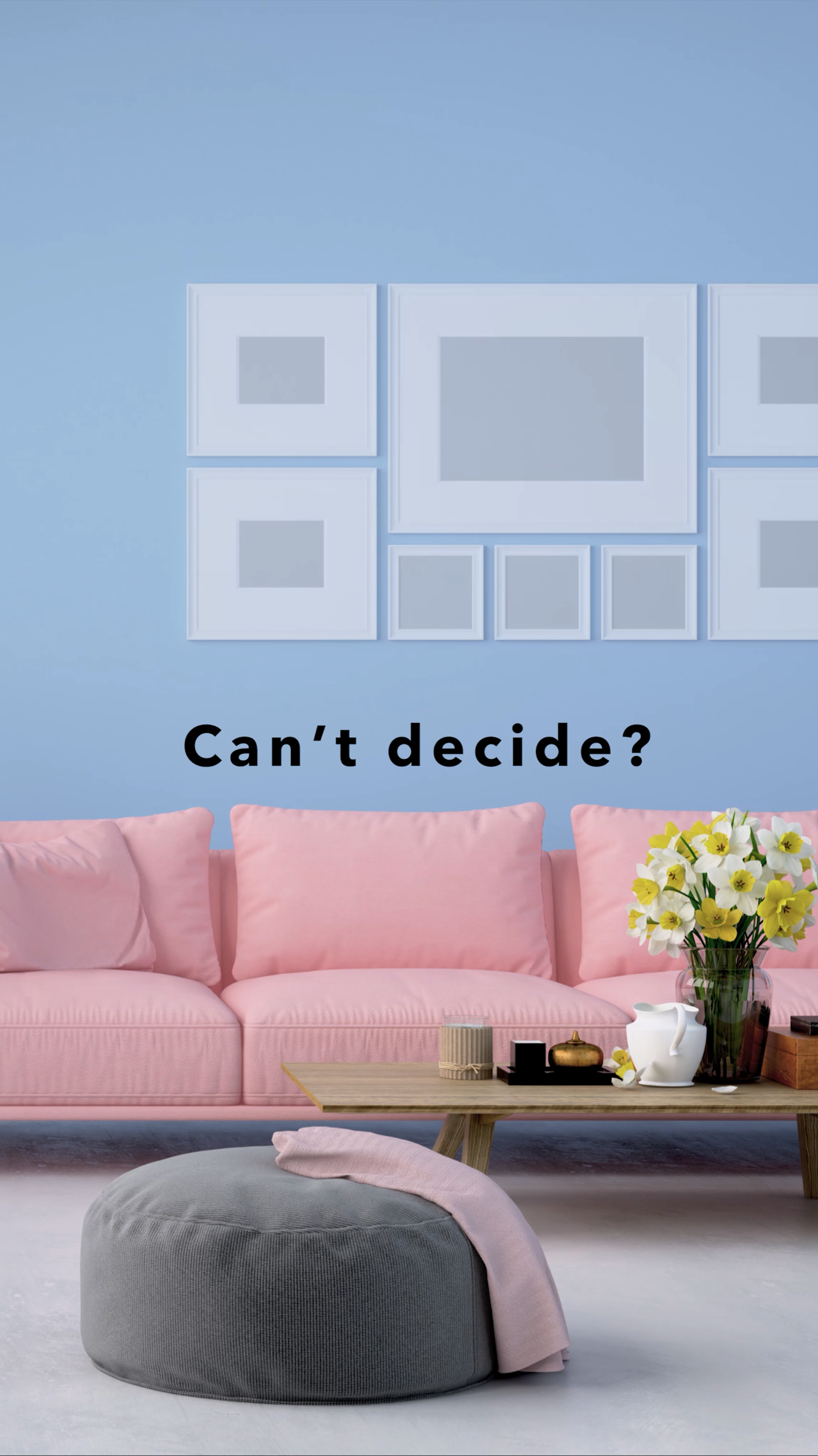 Cant decide your home decor item try before buying use decormatters ar interior design free app to diy and view furniture in your room before purchasing