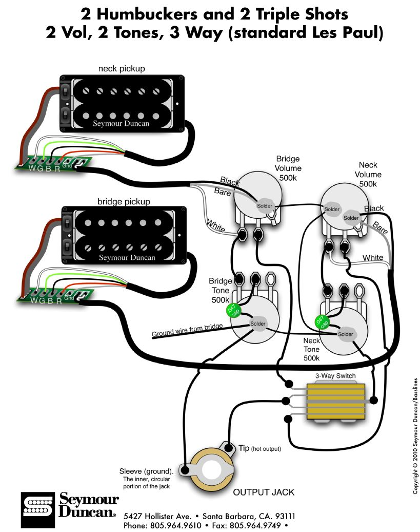 Seymour Duncan Wiring Diagrams Sss About Wiring Diagram Electric Guitar  Humbucker Wiring 2wire Humbucker Wiring Diagram