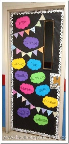 Back to school door decoration only 11 names on the door for Back to school door decoration