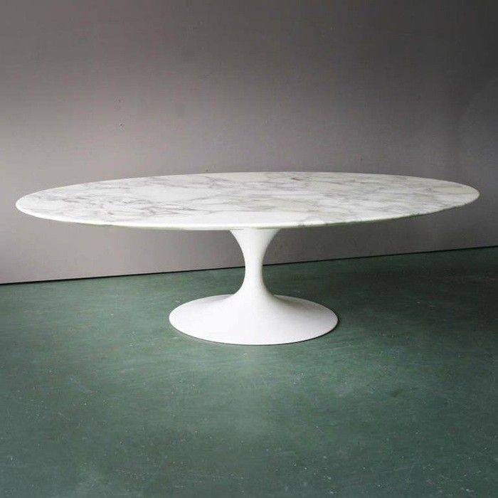 Beautiful Vintage (1970) Oval Coffee Table With Italian Marble Top For Knoll By  Finnish American Architect U0026 Designer Eero Saarinen (1910 1961). Via  Remodelista