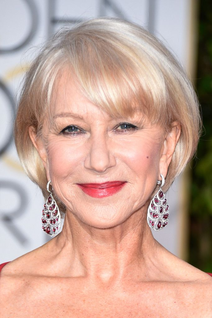 More Pics Of Helen Mirren Bob Linda Pinterest Bobs Short