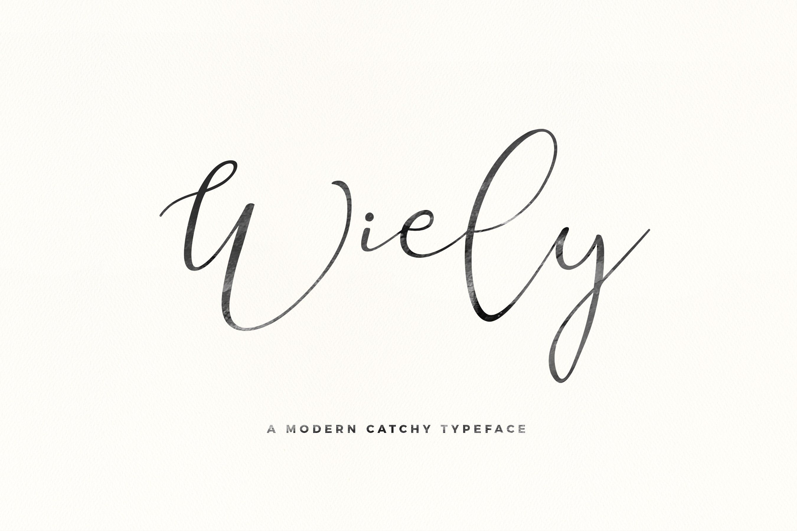 Good Font Combinations For Wedding Invitations: Holla Its Miss Wiely Here, A Modern Cacthy Typeface