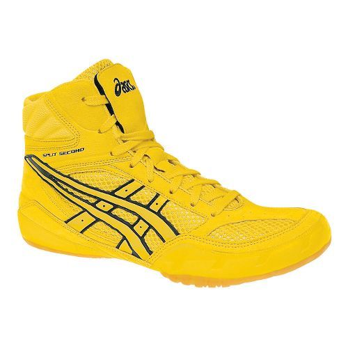 asics wrestling shoes yellow woman