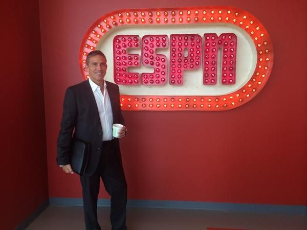 On ESPN to promote WTGST.   so good-looking.