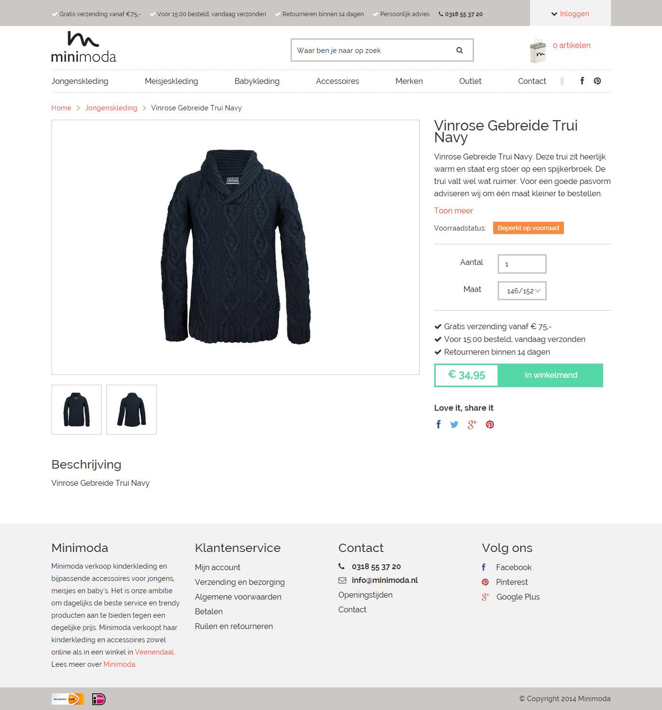 webshop design kleding