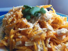 Trim Healthy Tuesdays: Sweet Potato Pasta with Chicken - E | Fir and Cypress