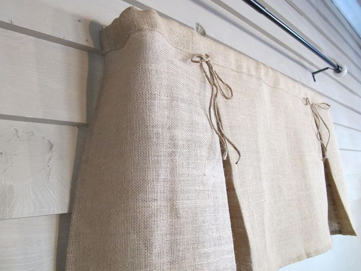 Pleated Burlap Valance with Jute Bows Window Treatment Natural Rustic Curtain,  #Bows #Burlap... #burlapwindowtreatments Pleated Burlap Valance with Jute Bows Window Treatment Natural Rustic Curtain,  #Bows #Burlap #Curtain #Jute #kitchencurtainfrench #Natural #Pleated #rustic #Treatment #Valance #Window #burlapwindowtreatments