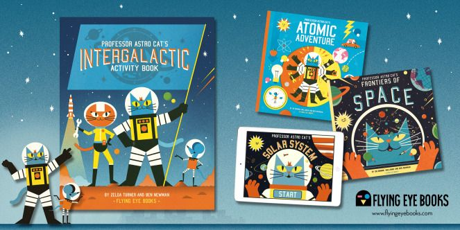 The Professor Astro Cat series Kids activity books, Book