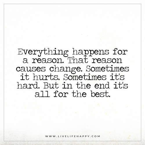 Quotes About The Deep End: Deep Life Quotes: Everything Happens For A Reason. That