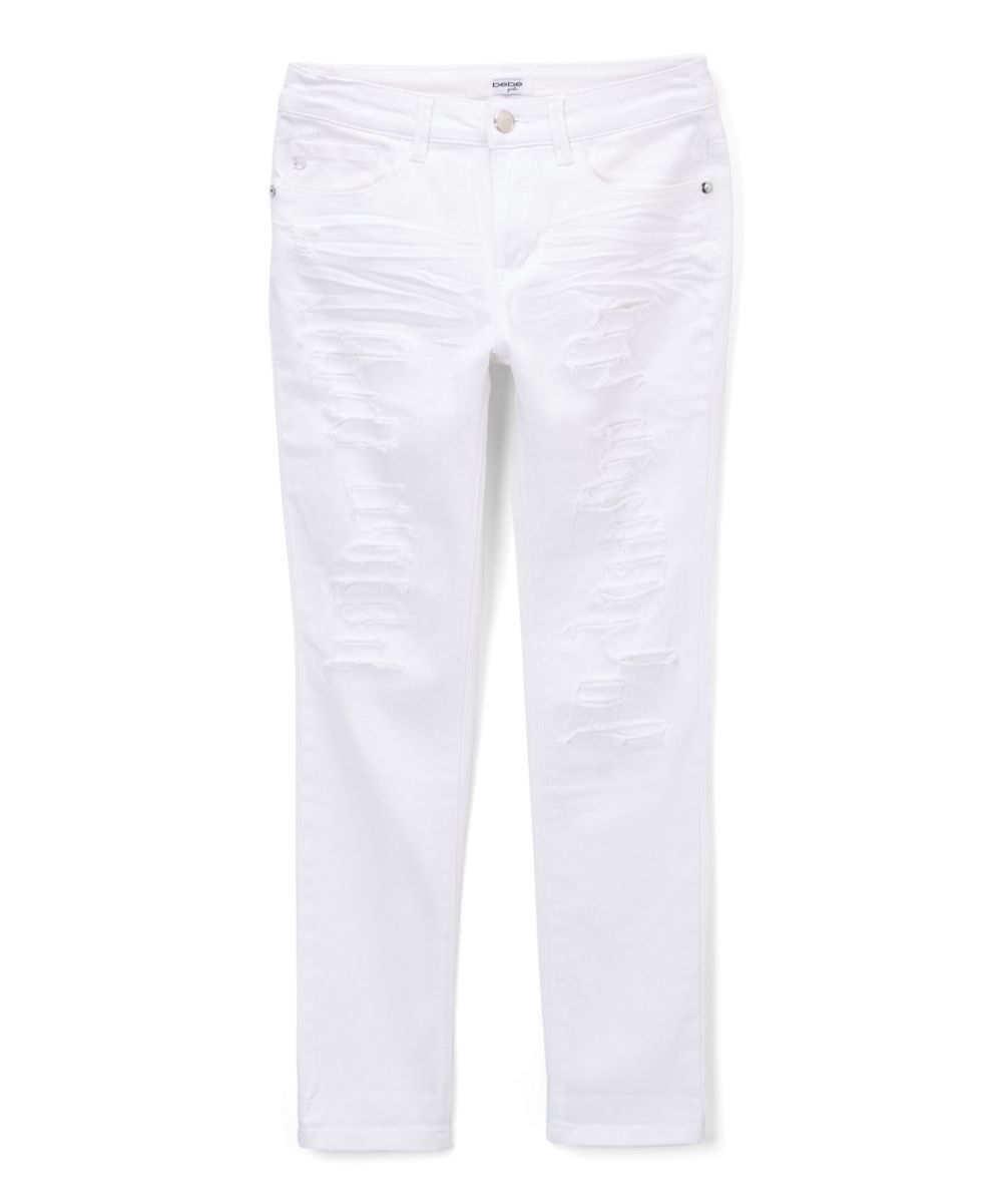 bebe True White Jeans - Girls | White jeans, Jeans and Girls
